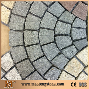 G654 Dark Grey Granite Paving Cube Lowes Landscape Stone