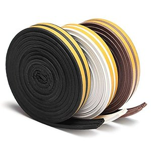 5M Draft Self Adhesive Type E Window Door Excluder Rubber Seal Strip