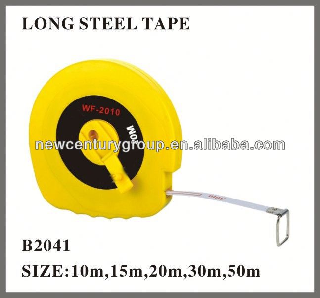 yellow Long stainless steel measuring tape
