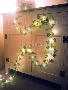 more photos e075a 39c51 Green Ivy Leaf Garland 2m With Mini Led Fairy String Lights Rustic Wedding  Decoration,Woodland,Enchanted Forest - Buy Green Ivy Leaf ...