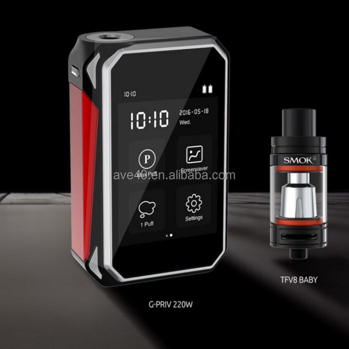 Newest Starter Kit SMOK G-Priv 220W Touch Screen Mod Electronic Cigarette