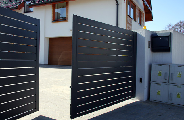 Aluminium Modern House Gate Designs Part 50