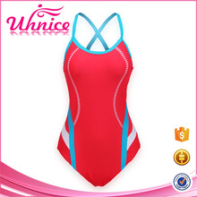 Neue stilvolle girl full body halter badeanzug