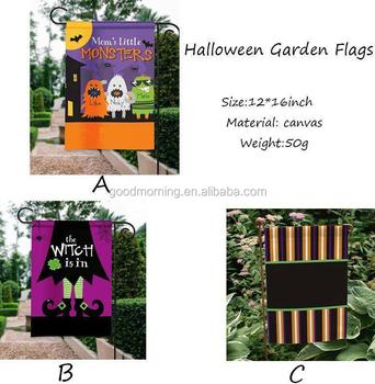 Personalized Monogram Halloween Garden Flags