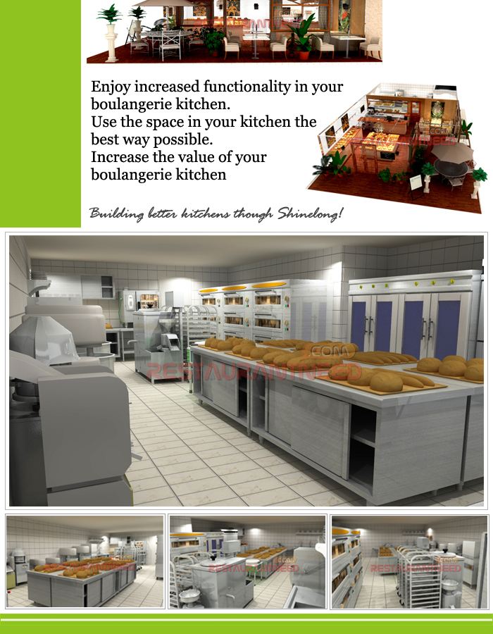Shinelong Customized Project Boulangerie Kitchen Design