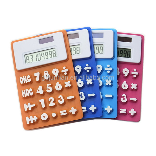Solar rubber table calculator for gifts