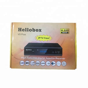 Factory Price Hellobox V5 Plus HD DVB-S2 H 265 HEVC Full HD Satellite  receiver support powervu biss fully autoroll and iptv, View Hellobox V5  Plus,