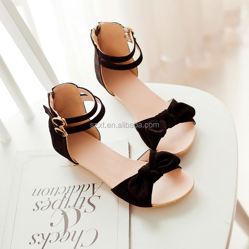 Latest Low Wedge Shoes Cut Outs Design Ladies Sandals For Flat ...