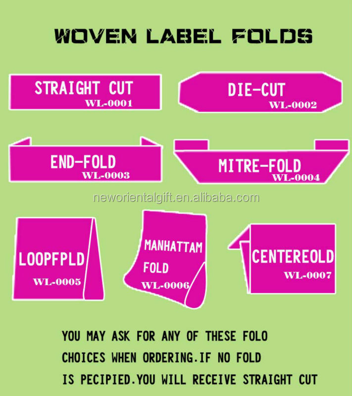 High Quality Custom Design Woven Shirt Labels