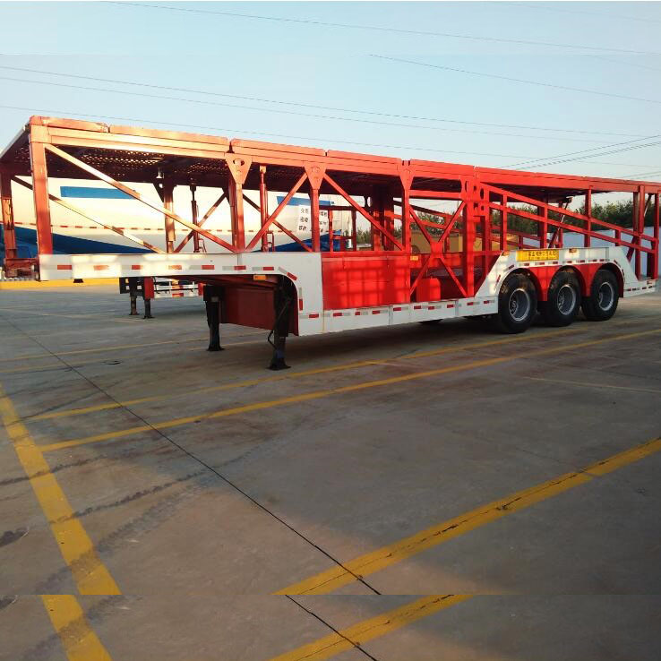 China Low Price 6 Commercial Vehicles Small Car Carrier Semi Trailer Sales