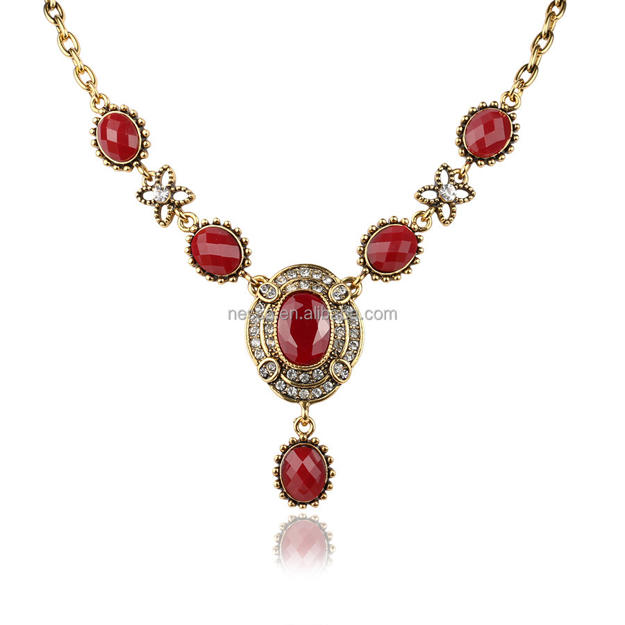 Fashion turkish gold necklace wholesale LYNK-0034