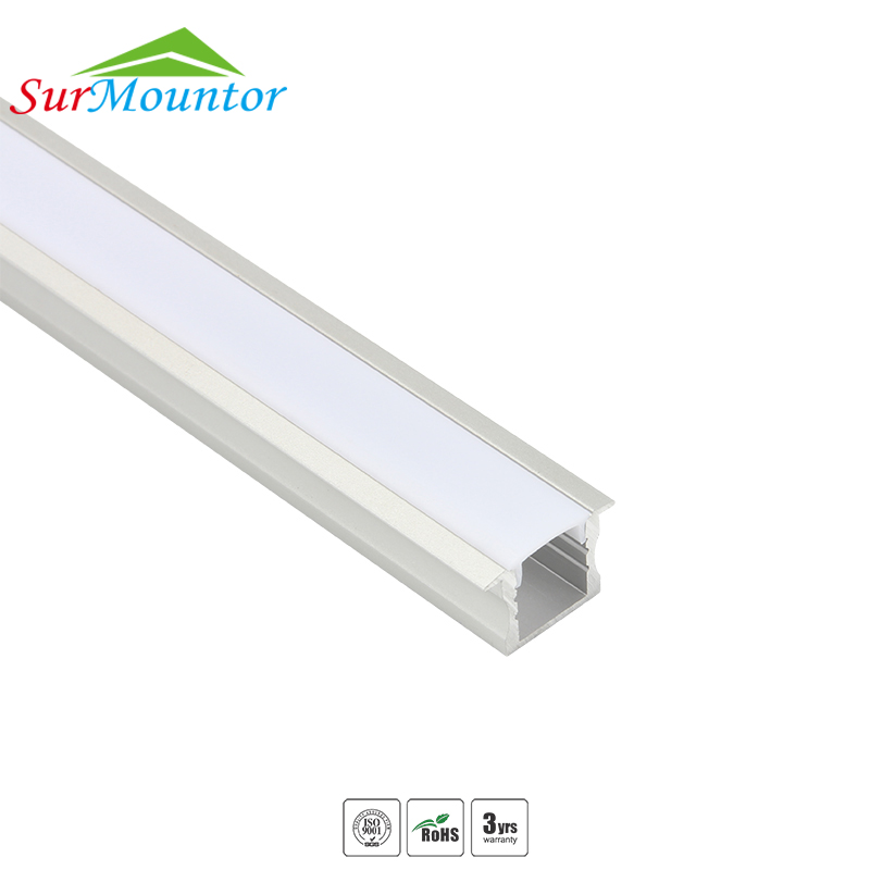 A2515 customize recessed wall led cabinet light aluminium aluminum profile channels frame for led strip light
