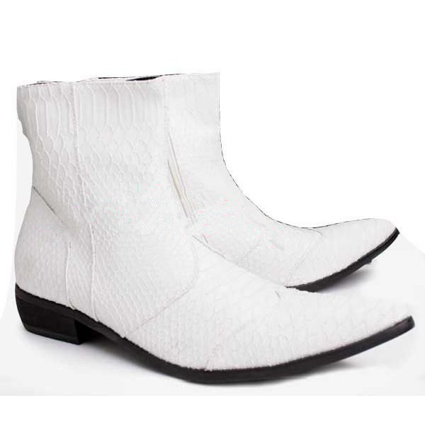 Mens White Boots Boot Hto