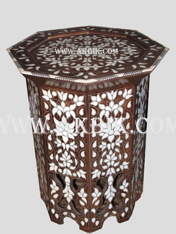 Octagon Side Table Inlaid With Mother Of Pearl.   Buy Inlaid Side Tables.  Product On Alibaba.com