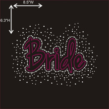 Wholesale Crystal Rhinestone Applique Bride Design Lace Fabric with Rhinestone