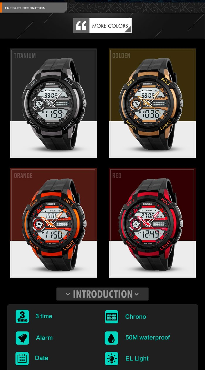 China Supplier Skmei Quartz Watch Sr626sw Jam Tangan Sport Chrono ...