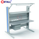 Detall- Adjustable Lift Step Industrial Workbench Assembly Line Conveyor Belt