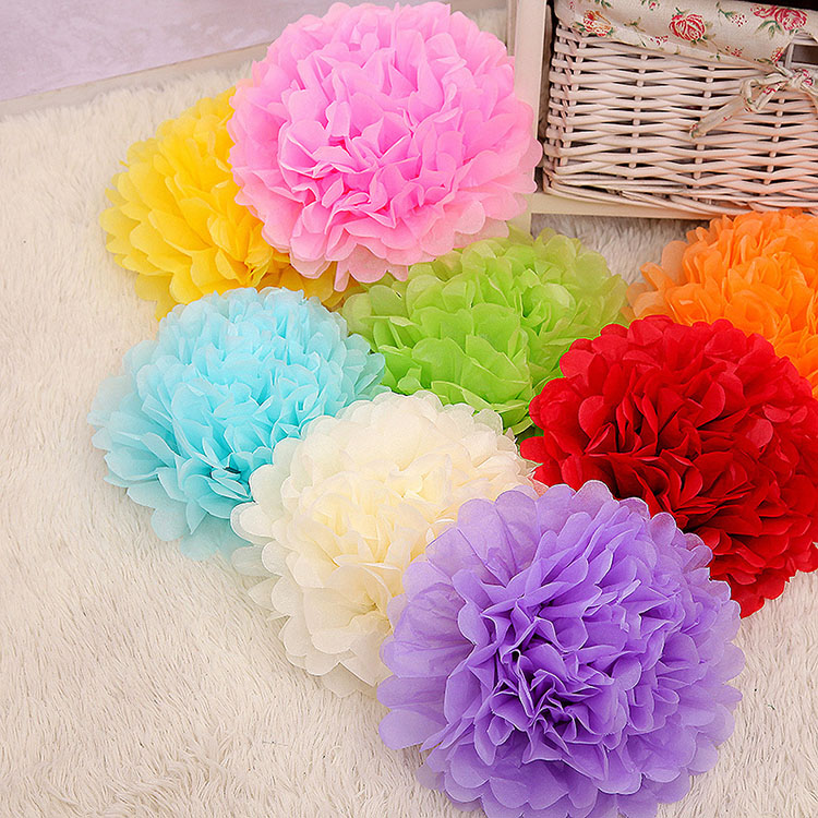Mix color tissue paper flower balls for wedding favors buy flower mix color tissue paper flower balls for wedding favors mightylinksfo Choice Image