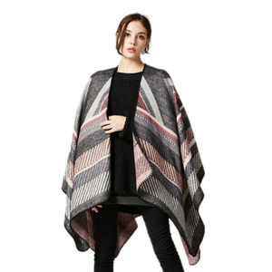 women winter checked woven scarves blanket runna poncho stole shawl stoles for women