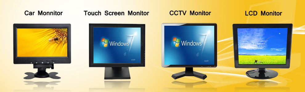 Super 7inch TFT LCD Color TV 12V Car LCD Monitor Mini TV