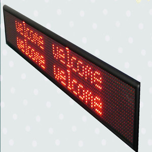 Animation Display Function and Red, green, blue, white, dual Tube Chip Color 12v led car message moving scrolling sign display