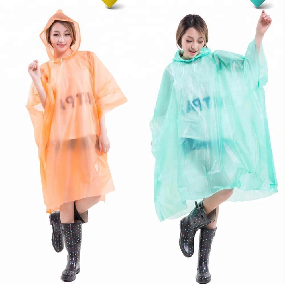 WATERPROOF EMERGENCY PONCHO DISPOSABLE RAIN COAT FESTIVAL HIKING HOOD ADULTS