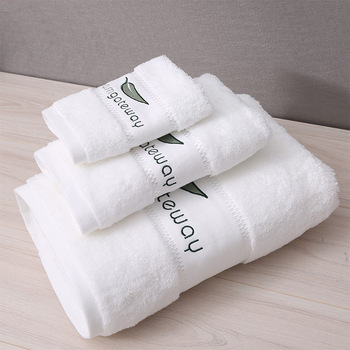 Factory Price hotel/home custom soft white cotton bath towel