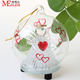 Clear glass programmable LED christmas ball lights/ angel with red heart