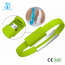 Mobile phone accessories phone charge cable, 20cm Bracelet usb charging data line for travelling charging