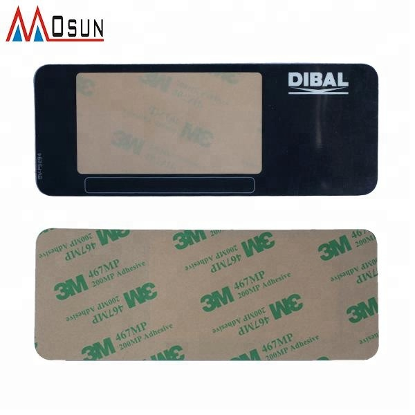 Customized pc material membrane graphic overlay keypad with 3M adhesive