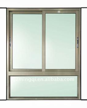 Champagne Color Aluminum Sliding Window Manufacturer