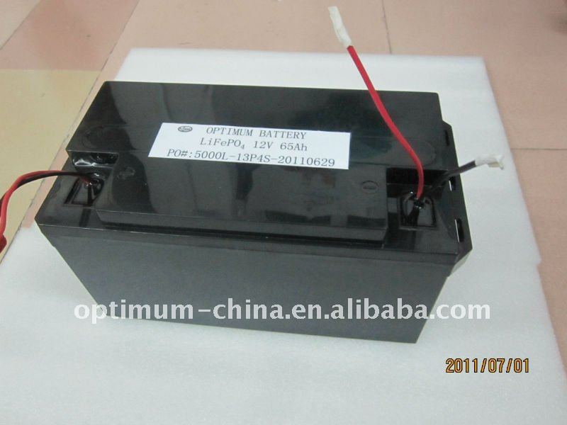 12V 65AH LifePo4 battery pack with lead acid batery pack shell