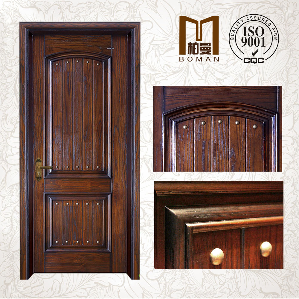 China specialized factory for Luxury Interior Carved solid wood arch door