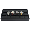 Leather Watch Jewelry Display Tray for 18 watches