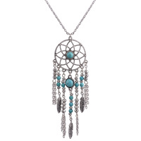 Fashion Turquoise dream catcher necklace Wholesale RS-0001