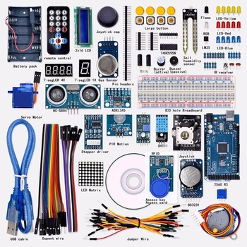 Upgraded Version Starter learning Kit for Arduinos Mega 2560 R3  with the RFID and  LCD 1602