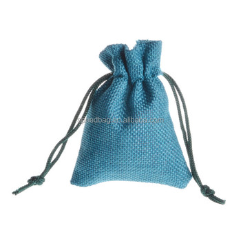 wholesale retro small jute jewelry drawstring pouch bag