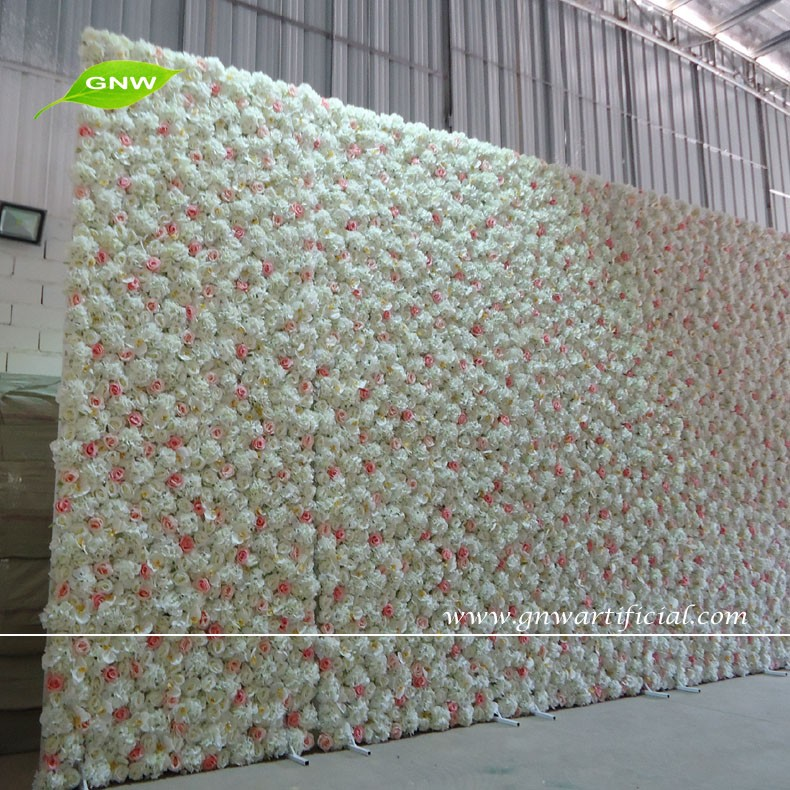 Gnw flw1512 2 artificial silk flower wall for wedding for Garden state pool scene quote