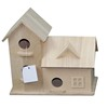 Natural color wooden bird house for sale
