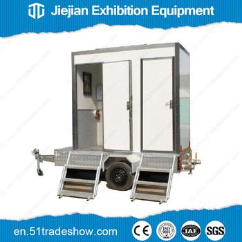 Portable Toilet Exhibition : Outdoor mobile portable toilet trailer for wedding party buy