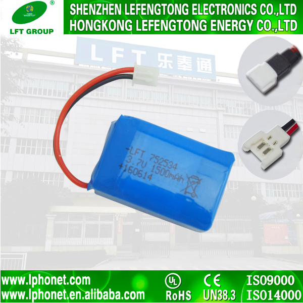 high quality 7.4v 3.7v 1500mah lipolithium ion battery charger with wire pcm