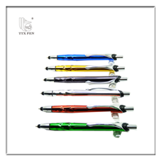 hot selling blue metal ballpoint pen press button easy ballpoint pen stationery pens