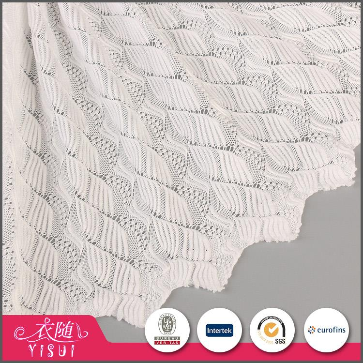 Hot sale OEM accept luxury solid knitted mesh fabric lace for wedding dress
