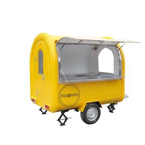 Cool summer fry ice cream roll cart/mobile food cart trailer