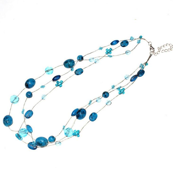 New Design Fashion Bohemian Style Glasses Beads Handmade Necklace wholesale