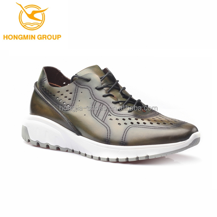 2017 new spring summer fashion cow leather high class luxury men casual sport shoes