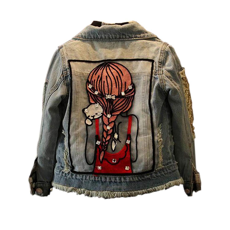 6136f1471 Get Quotations · Best for All Little Big Girls Jean Jacket,Toddler Denim  Jacket Fashion Outwear Cowboy Overcoat