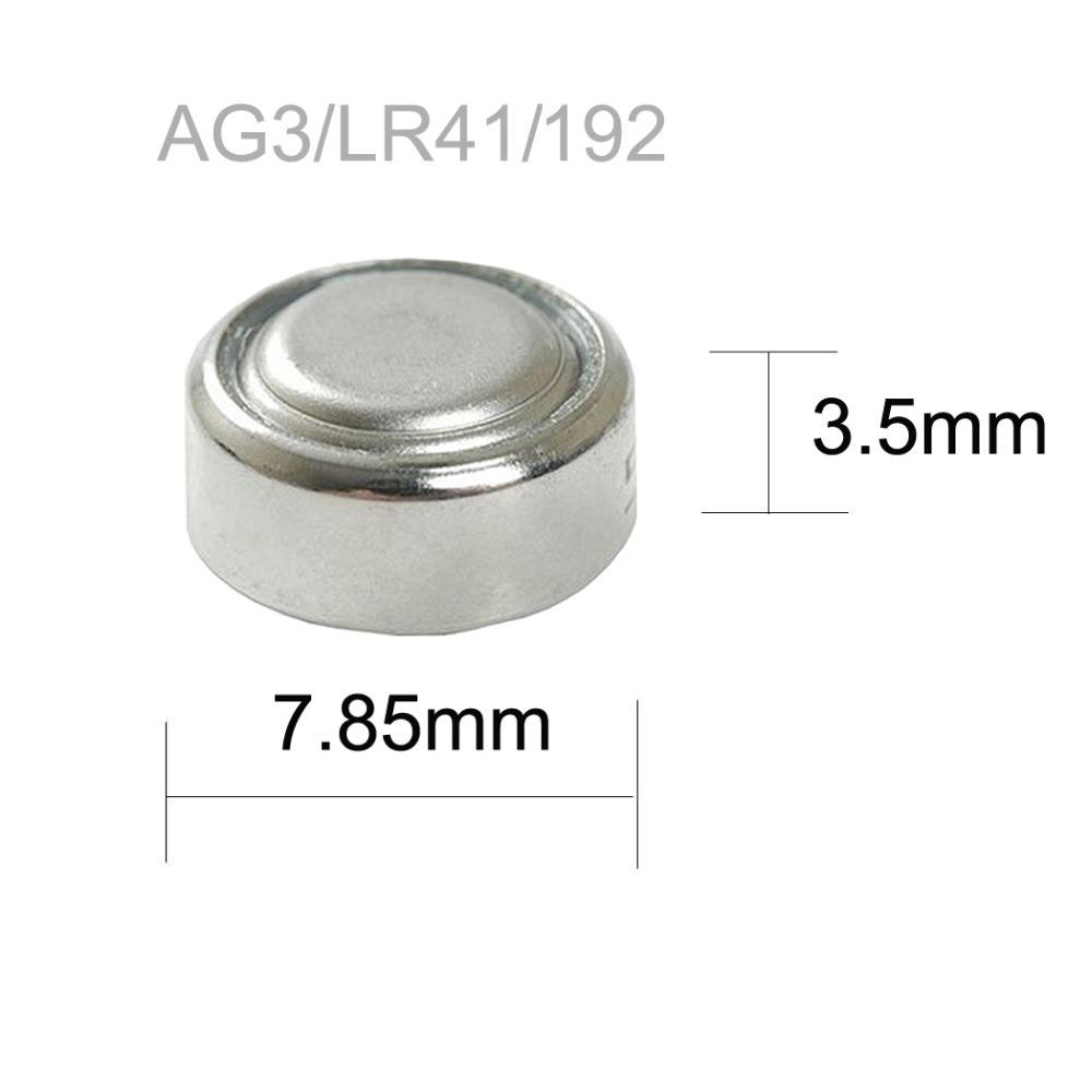 50 шт. LR41 392 192 AG3 часы кнопка 1.5 В с SR41SW LR736 392 SR736