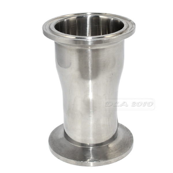 "38MM to 32MM 1.5"" to 1.25"" Sanitary Ferrule Reducer Fittings to Tri Clamp Stainless Steel SS316"