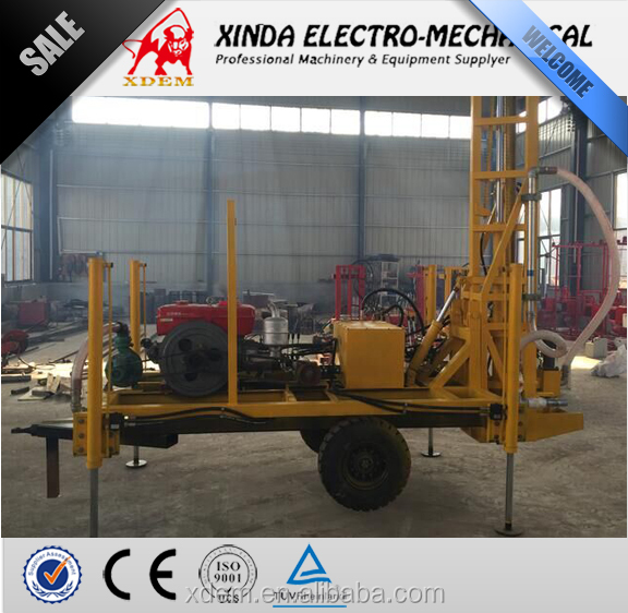 XDEM YZ50-150D Trailer Mounted Drilling rig, Portable Water Well Borehole Drilling Machine